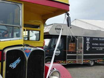 What The Fork street food truck with old style bus
