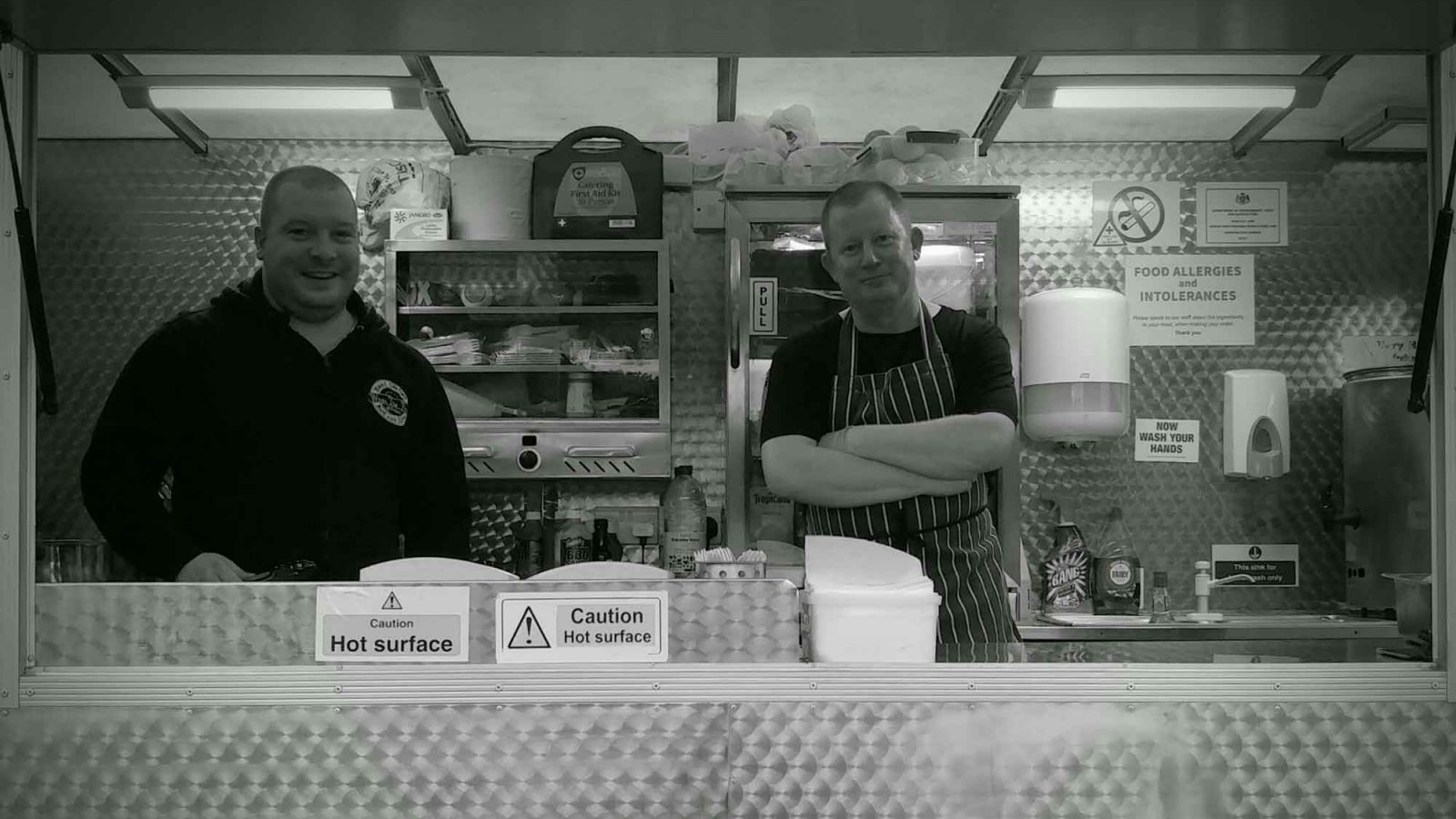 WTF owners and chefs Richard and Gareth in the street food trailer