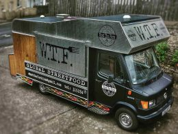 What The Fork's street food truck as seen from above